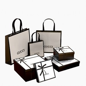 box gucci gift 3D model