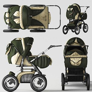 baby carriage stroller Baby Care 3D