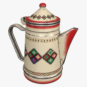 Arabic Teapot with Pattern 3D model