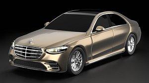 Mercedes-Benz S-Class 2021 exterior 3D model
