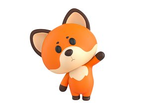 3D Character131 Rigged Fox