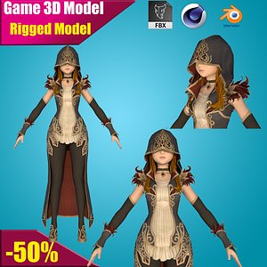 girl toon cartoon 3D
