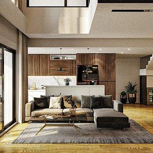 3D furniture room decor