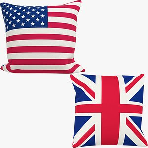 3D Flags Pillows Collection V2 model