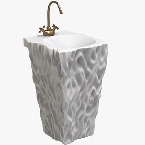 3D Stone Sink Pedestal model