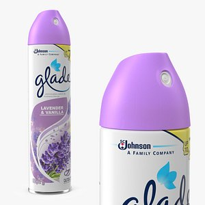 Glade Air Freshener Aerosol Spray Lavender and Vanilla 3D model