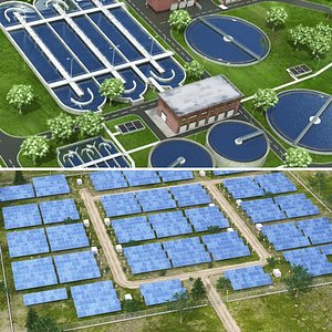 3D water treatment solar model