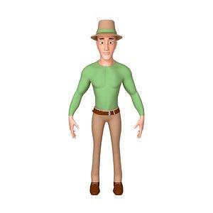 cartoon man toon 3D model