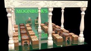 3D Moonbuck's Cafe House model