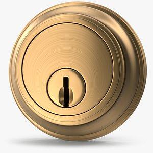 3D Door Lock Golden V02