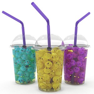 3D Kawaii Shake Cocktail Lemonade model