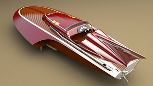 3D hydroplane racing boat