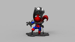 spider venom printing chibi 3D