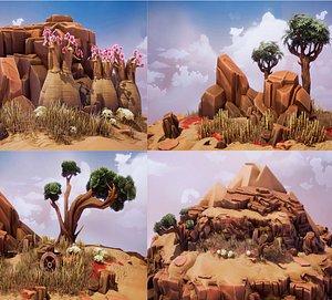crimson desert trees landscape 3D model