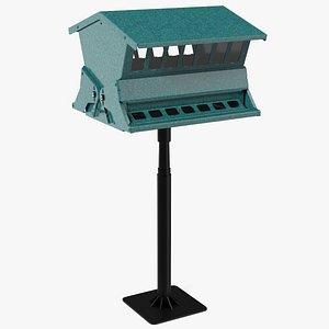 Squirrel Resistant Bird Feeder Pole 3D model