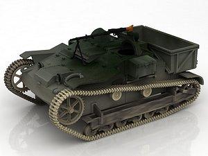 3D model Renault UE Chenillette