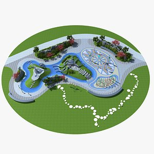 water playground play 3D model