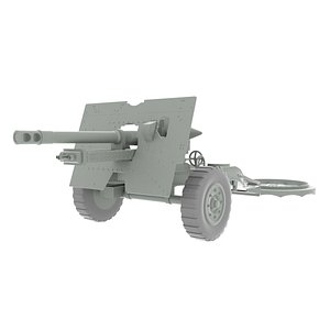 3D artillery piece ordnance