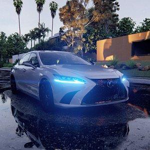 3D 2021 Lexus ES350 F Sport