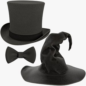 3D model Halloween Hats Collection V6
