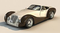 Generic Roadster Car With Realistic V-Ray Materials 3D model