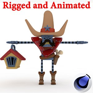 3D Enemy Rigged and Animated