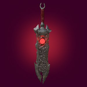 The Old Sword PBR low-poly game ready 3D