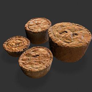 Medieval Meat Pies Set 3D