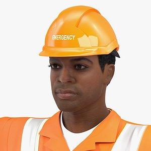 light skin black rescuer 3D model