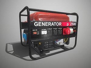 3D Fuel generator pbr Low-poly 3D model