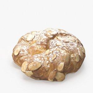 Almond Croissant Round model