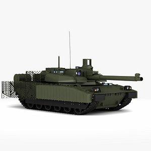 MBT AMX  Leclerc  XLR 3D model