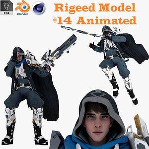 Sci-Fi Soldier Unreal Unity model