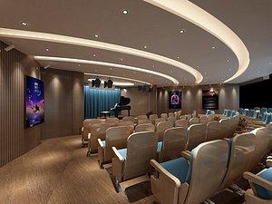 3D model Conference room cinema parlor theatre