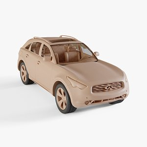 3D 2008 Infiniti FX50 model