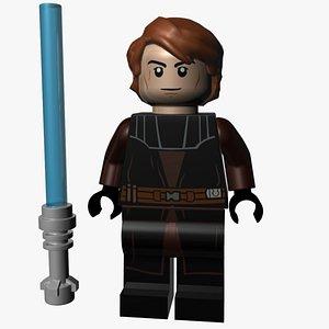 3D Lego Anakin Skywalker