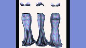 3D Mermaid fantasy outfit