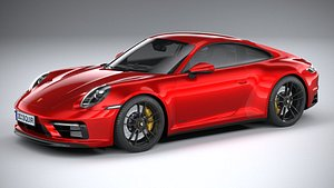 3D model Porsche 911 Carrera GTS 2022