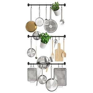 3D kitchen room decor