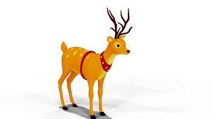3D model Cartoon deer game ready