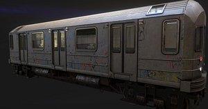 3D model subway train car -