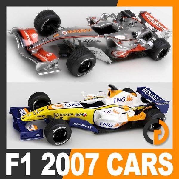 f1 2007 vodafone mclaren 3D