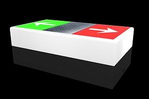 3D io button model