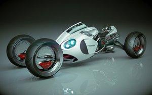3D T Bike Four Wheel 02 model