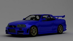 NISSAN SKYLINE GTR R34 3D model