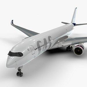 3D model a350-900 scandinavian airlines l1139