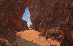 Cave Desert Rock Environment 3D