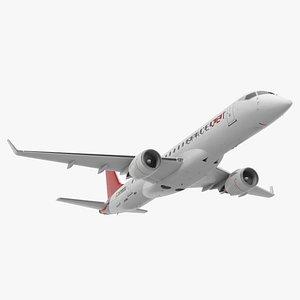 3D mitsubishi spacejet m90 retracted model