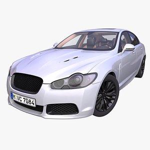 3D generic luxury sedan interior car model