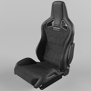 RECARO Sportster CS Vinyl Black, Suede Black 3D model